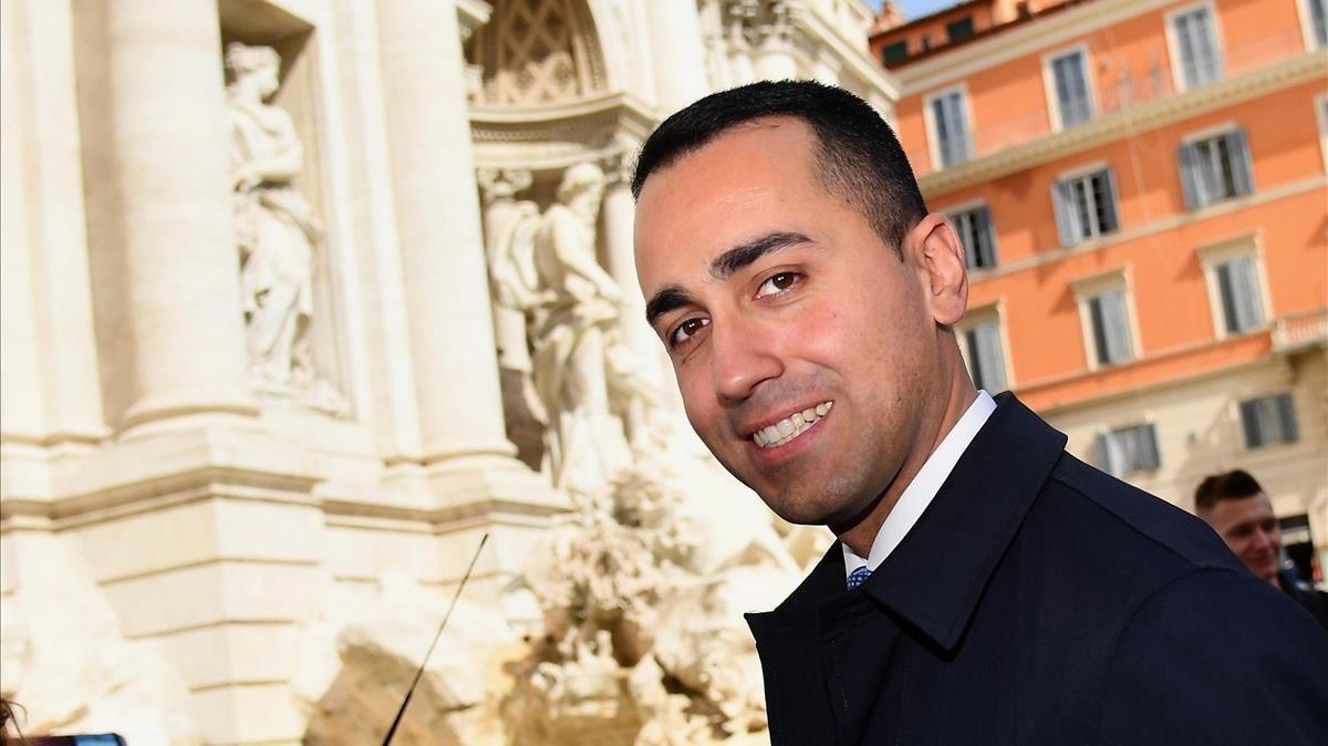 El líderdel partido italianoMovimiento Cinco Estrellas,Luigi di Maio.