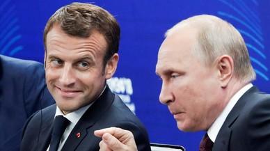 """Macron: """"Sin progresos"""" en Ucrania, la UE no levantará las sanciones a Rusia"""