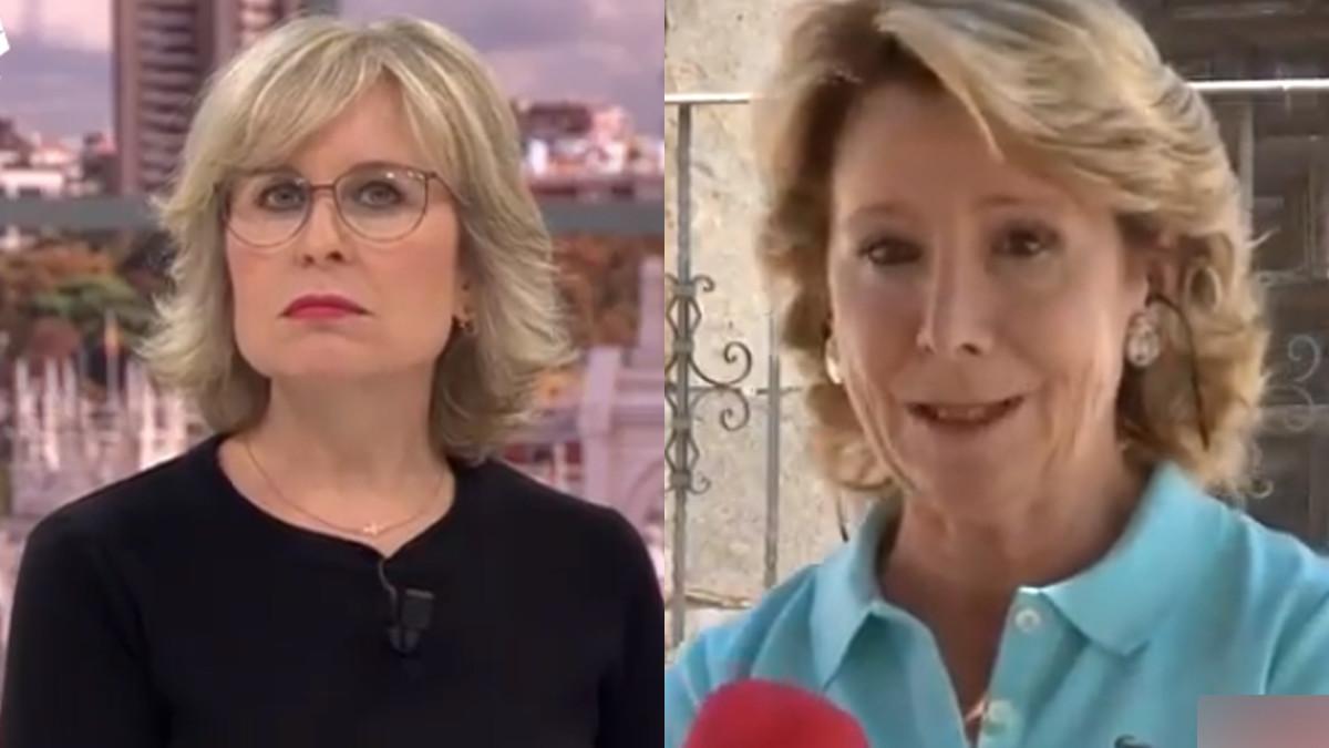 María Rey y Esperanza Aguirre.