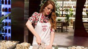 María Castro, en la cocina de Masterchef celebrity 3.