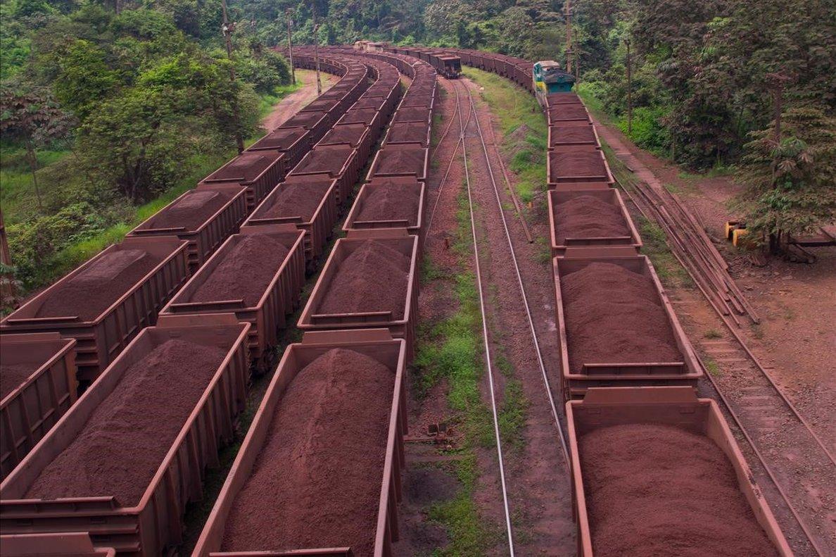 El mercancías de las minas de hierro de Carajás.