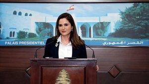 La ministra de Información de Líbano, Manal Abdel Samad.