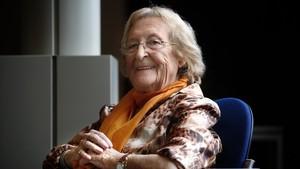 Montserrat Abelló, en una imagen del 2008 como ganadora del Premi dHonor de les Lletres Catalanes.