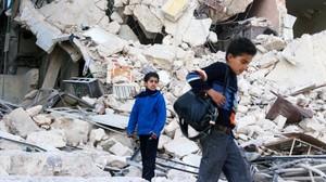 Niños en Siria.