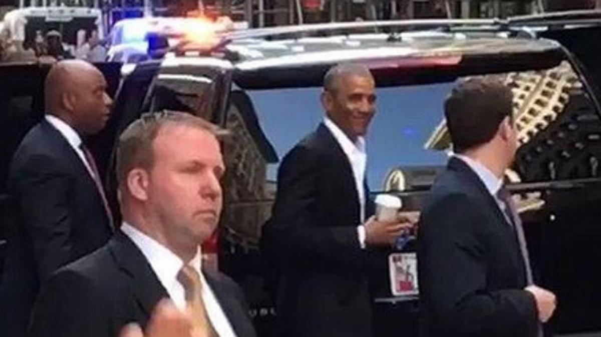 Obama en Manhattan.