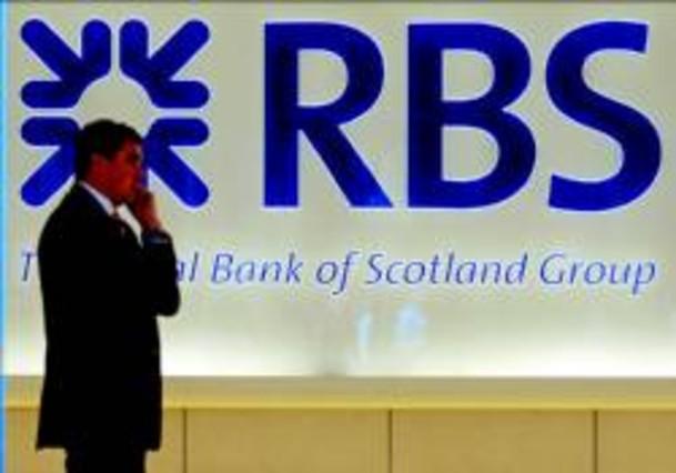 Oficina del Royal Bank of Scotland en el centro de Londres, ayer.