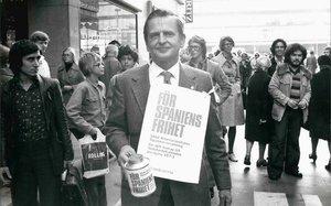 Olof Palme, en octubre de 1975.