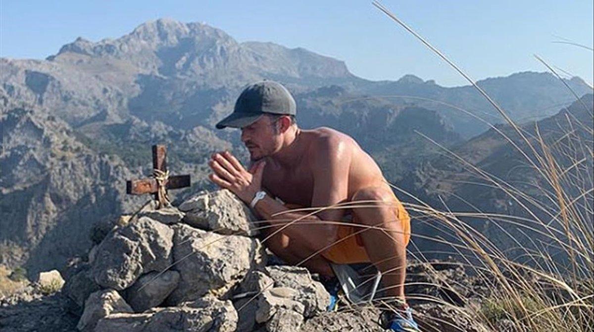 Orlando Bloom, de excursión en la mallorquina Serra de Tramuntana.