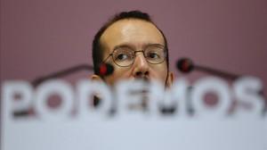Pablo Echenique comparece en rueda de prensa tras la ejecutiva.