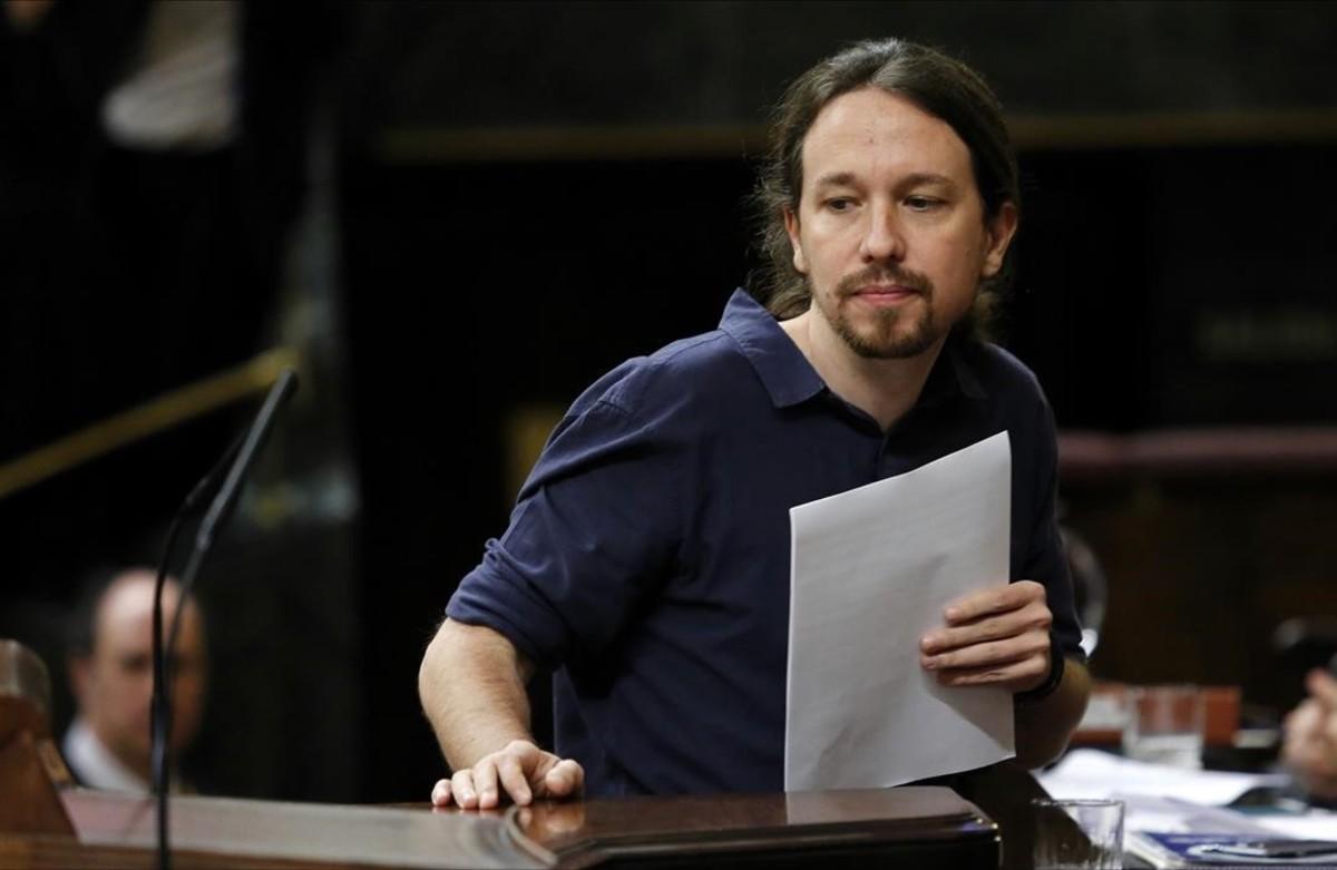 Pablo Iglesias, en el Congreso.