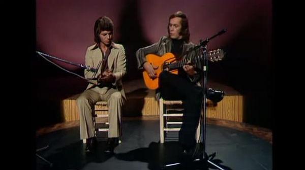 El guitarrista i el 'cantaor', per 'bulerías', en una actuació dels anys 70.