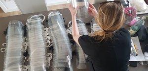 Pantallas de protección facial fabricadas en Gavà