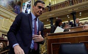 Pedro Sánchez, en el Congreso.