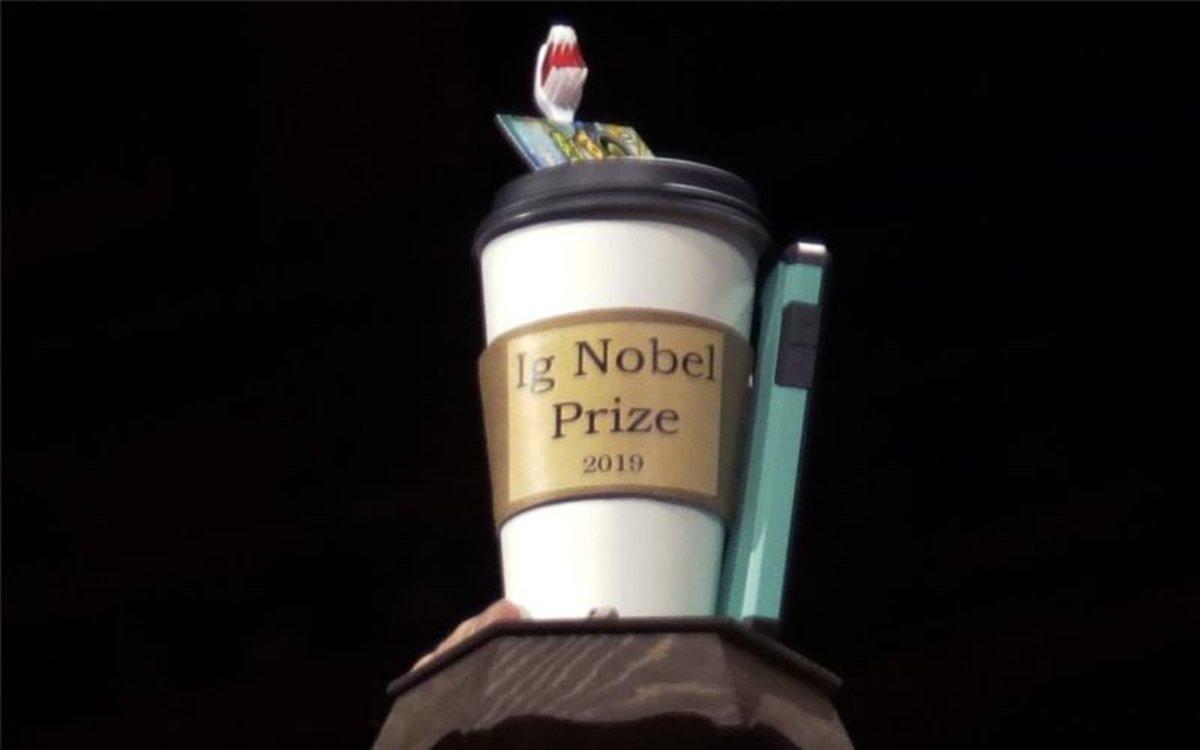 El aclamadopremio Ig Nobel de la Universidad de Harvard.