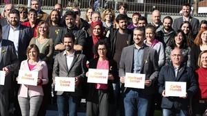 Presentación de los candidatos de ERC a los comicios del 21-D.