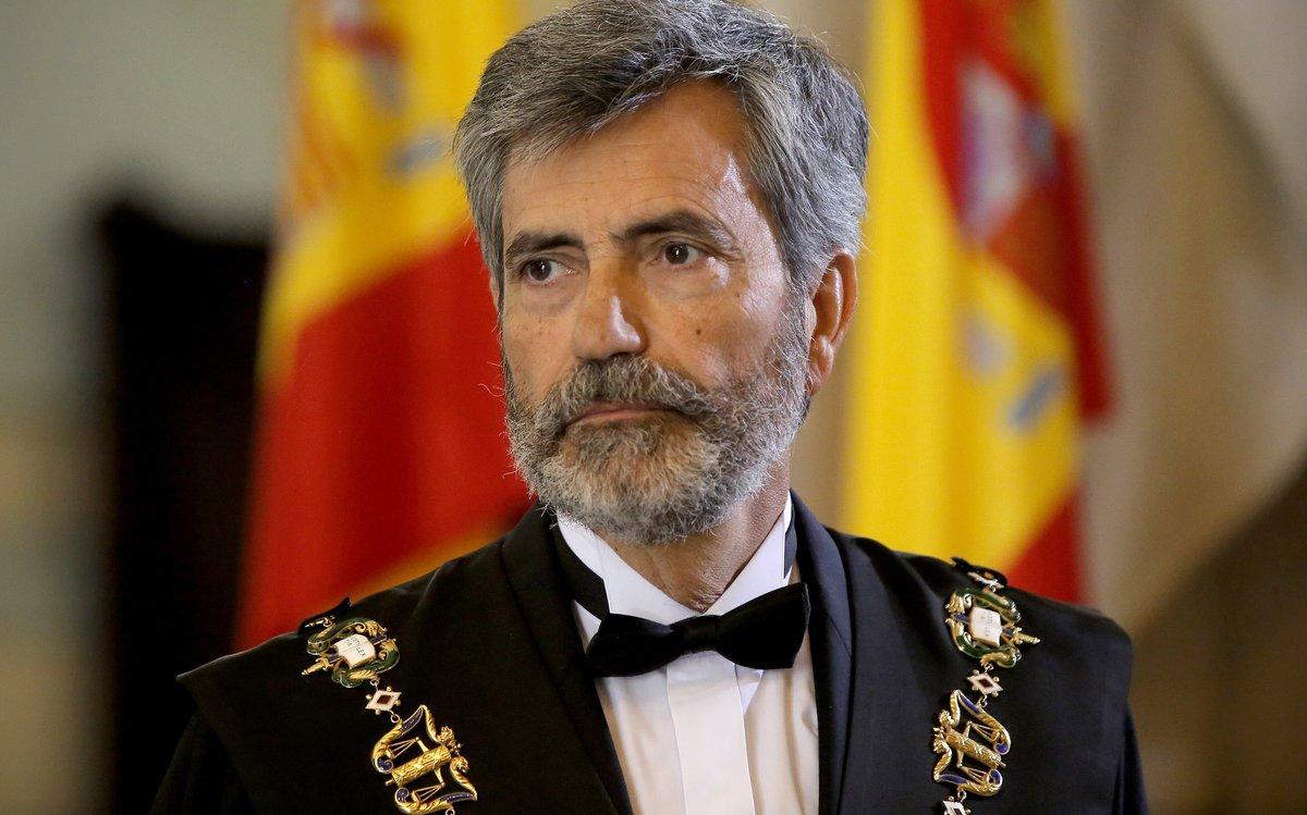 El presidente del CGPJ,Carlos Lesmes, en un acto judicial.