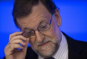 El presidente en funciones y líder del PP, Mairiano Rajoy, en una de sus comparecencias recientes tras el 26-J