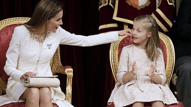 La princesa Elionor compleix 11 anys sense el Toisó d'Or.