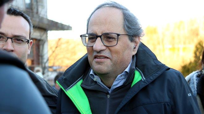 Quim Torra dice que el lunes hará su conferencia en Bruselas, pese a la prohibición del Parlamento Europeo.