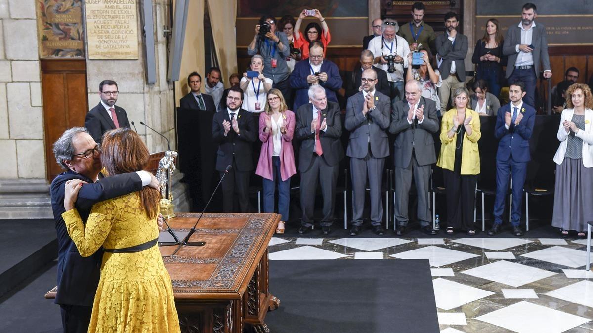 Quim Torra felicita a Laura Borràs en el nombramiento de consellers