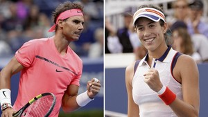 Rafael Nadal y Garbiñe Muguruza.