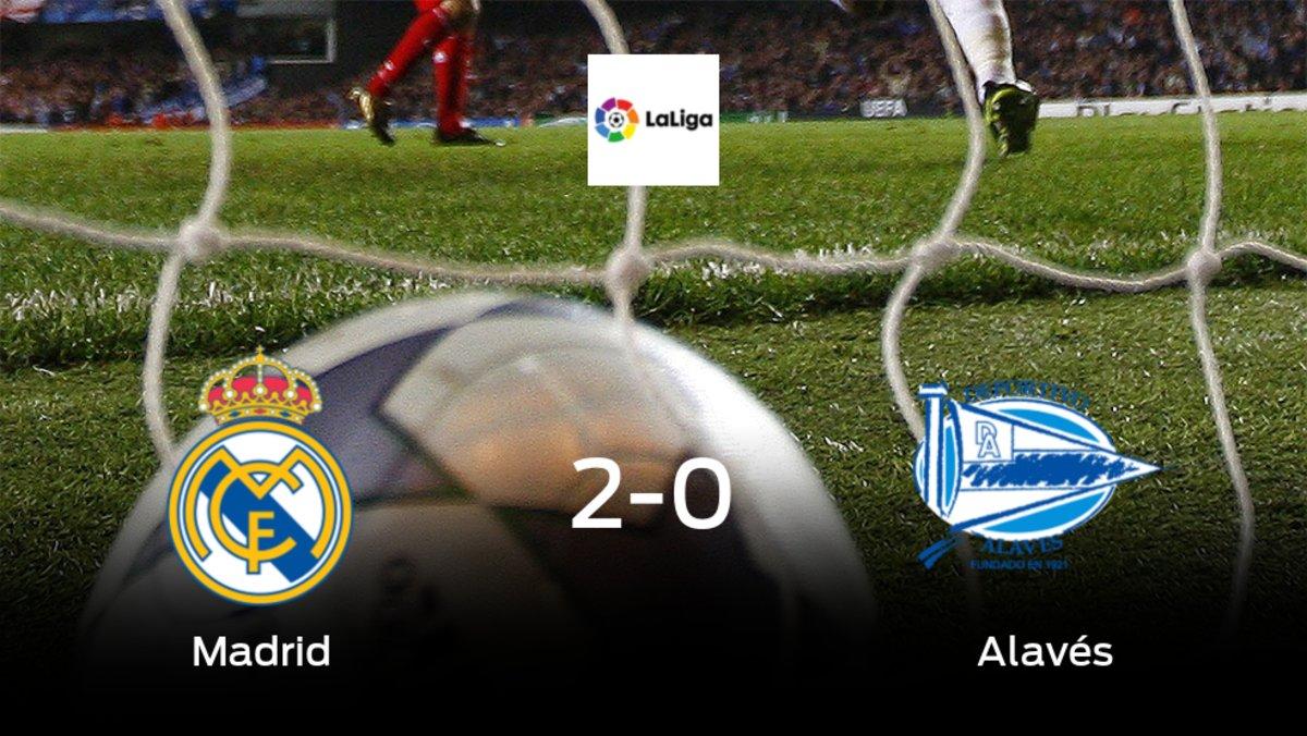 El Real Madrid vence 2-0 al Alavés y se lleva los tres puntos