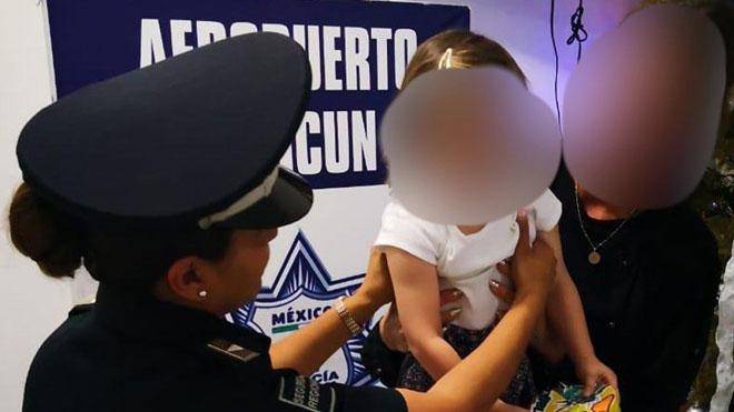 Rescatada una niña española secuestrada en el aeropuerto de Cancún.