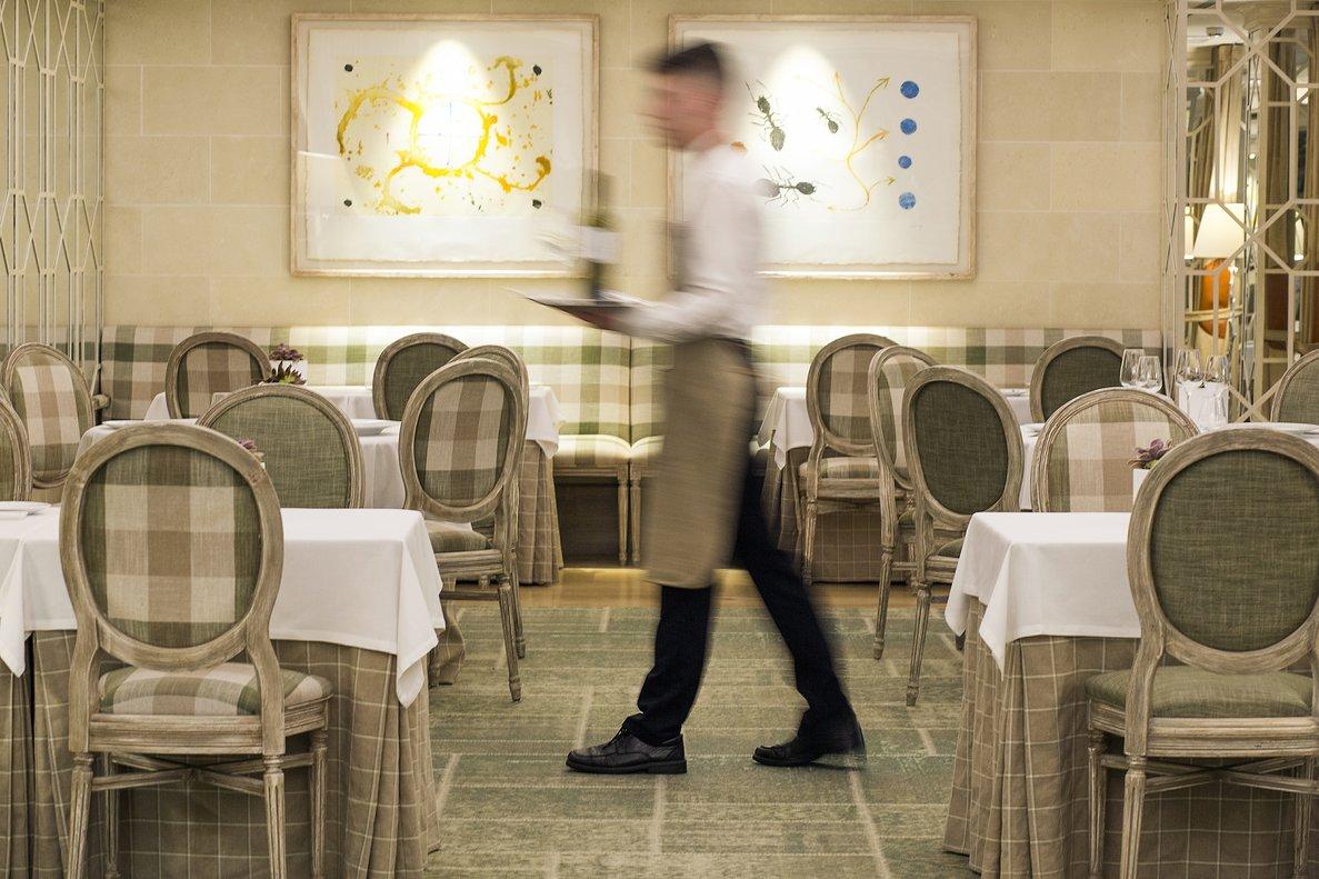 Sala del restaurante Solc, en el primer piso del Hotel Majestic.