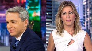 Vicente Vallés ('A3 Noticias') habla de la rivalidad con su mujer, Ángeles Blanco, de 'Informativos Telecinco'