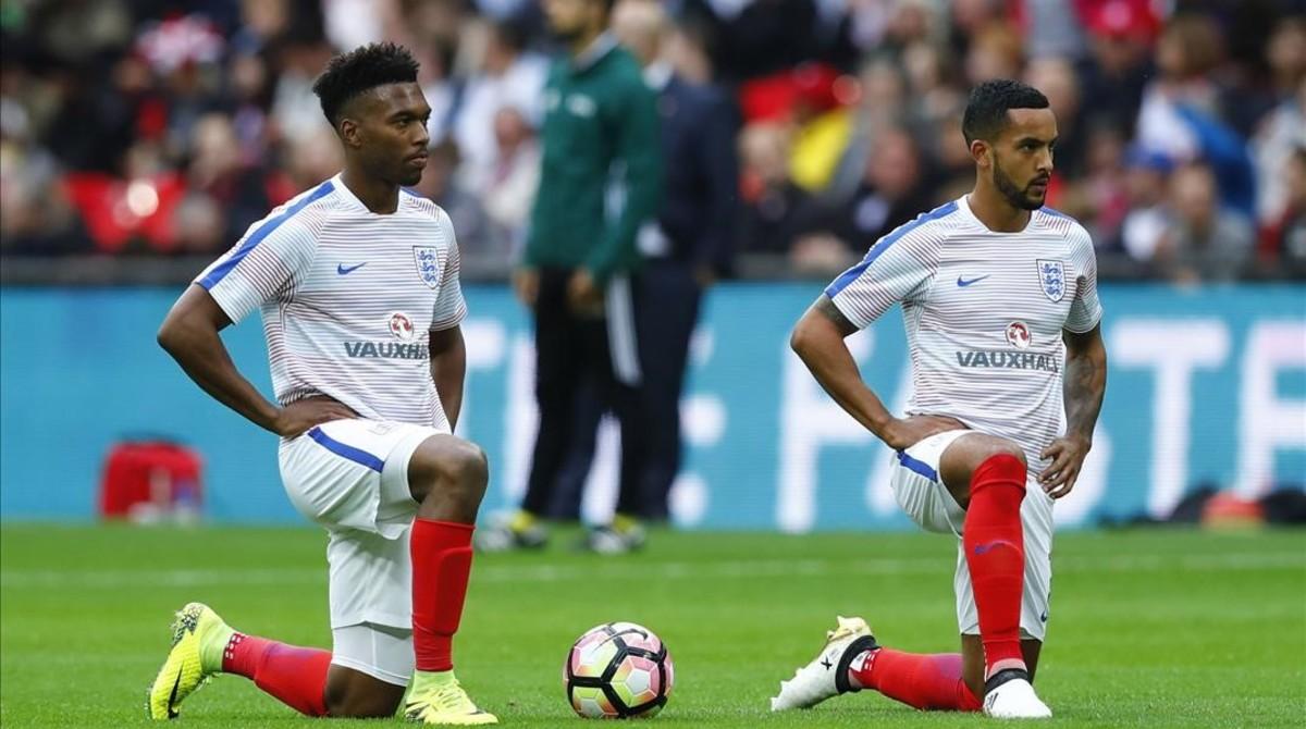 Sturridge y Walcott, este sábado en Wembley antes de empezar el Inglaterra-Malta.