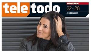 Sílvia Abril, en la portada del Teletodo.