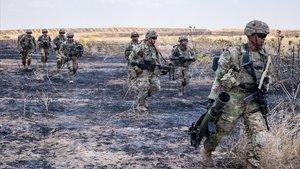 Soldados estadounidenses en Irak.
