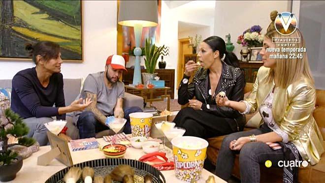 Julio Iglesias Jr. con sus invitados (Cuatro).