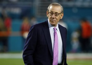 FILE - In this Dec 11 2017 file photo Miami Dolphins owner Stephen M Ross watches his team before an NFL football game against the New England Patriots in Miami Gardens Fla Ross is defending his support of longtime friend Donald Trump after being criticized about it by one of his players AP Photo Wilfredo Lee File