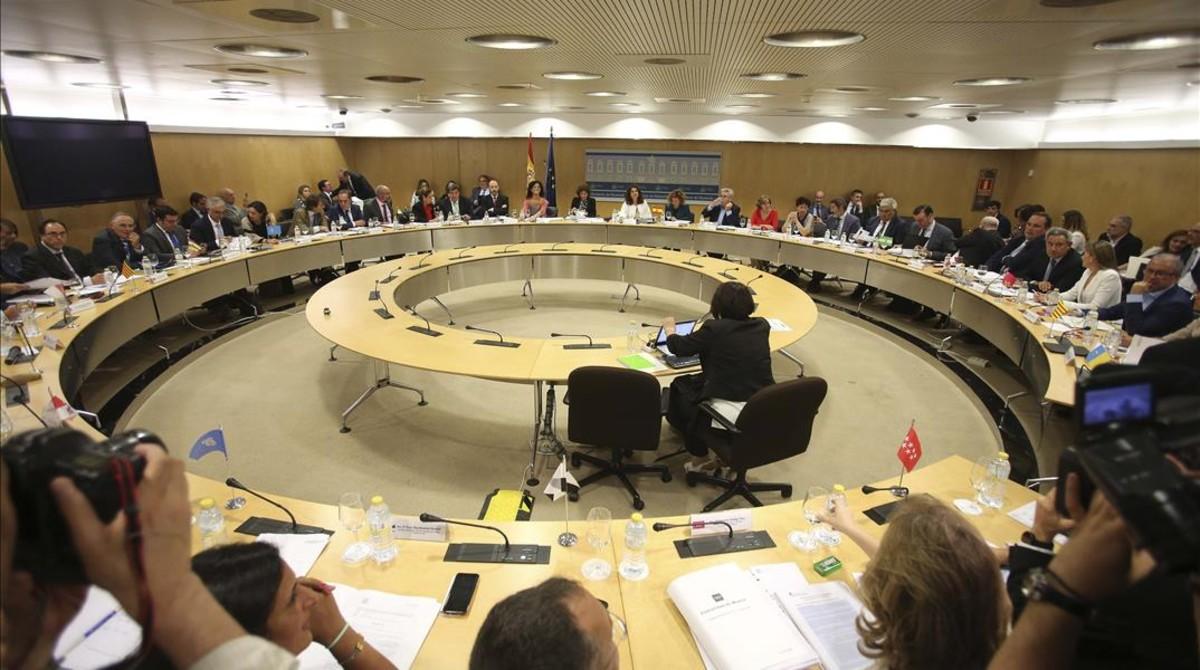 Reunión del Consejo de Politica Fiscal y Financiera del 19 de julio presidida por la ministra de Hacienda, María Jesús Montero.