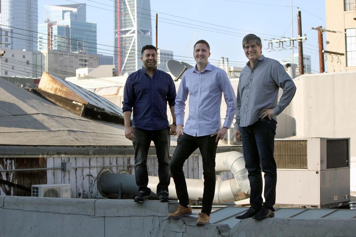 Los tres fundadores de Tenor, la principal compañía de GIF en el móvil: Frank Nawabi, David McIntosh y Erick Hachenburg.