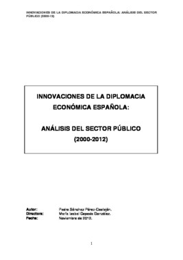La tesi de Pedro Sánchez