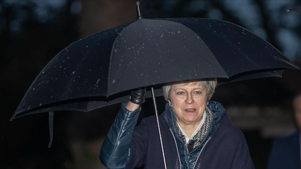 Theresa May ayer en Londres.