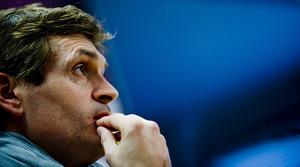 Tito Vilanova, durant una roda de premsa al Camp Nou l'any passat.