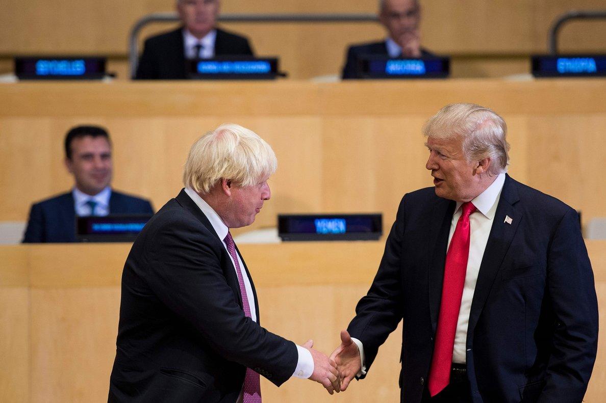El presidente de los EEUU, Donald Trump y el primer ministro británico, Boris Johnson.