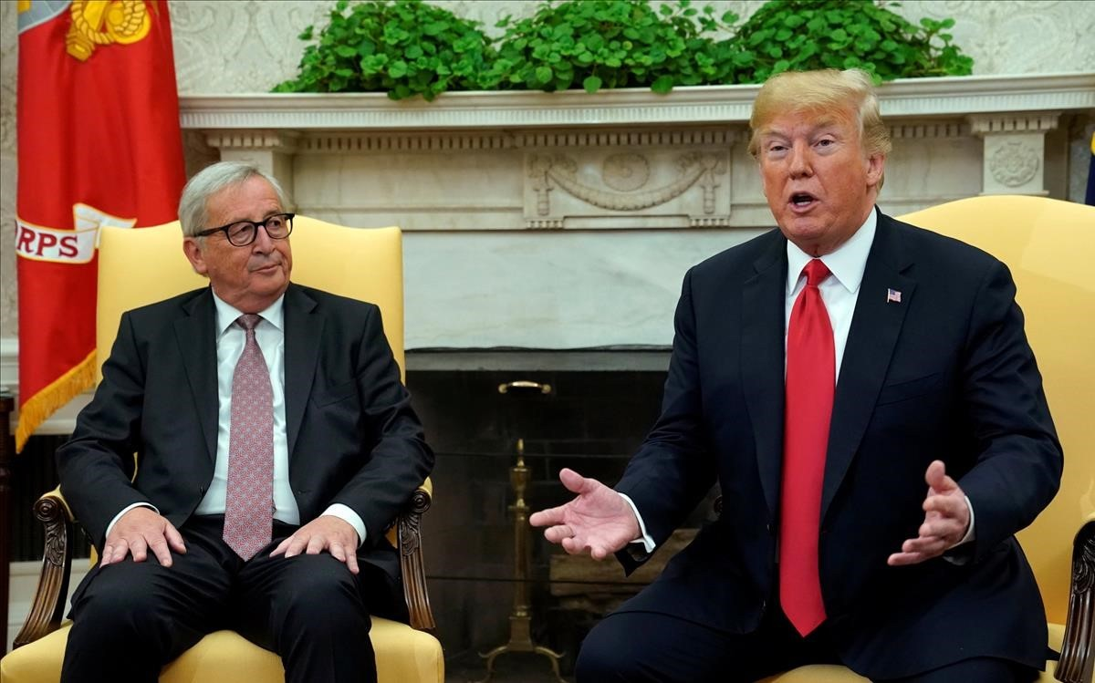 Trump y Juncker, en el Despacho Oval.