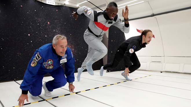 Bolt també bat rècords en gravetat zero