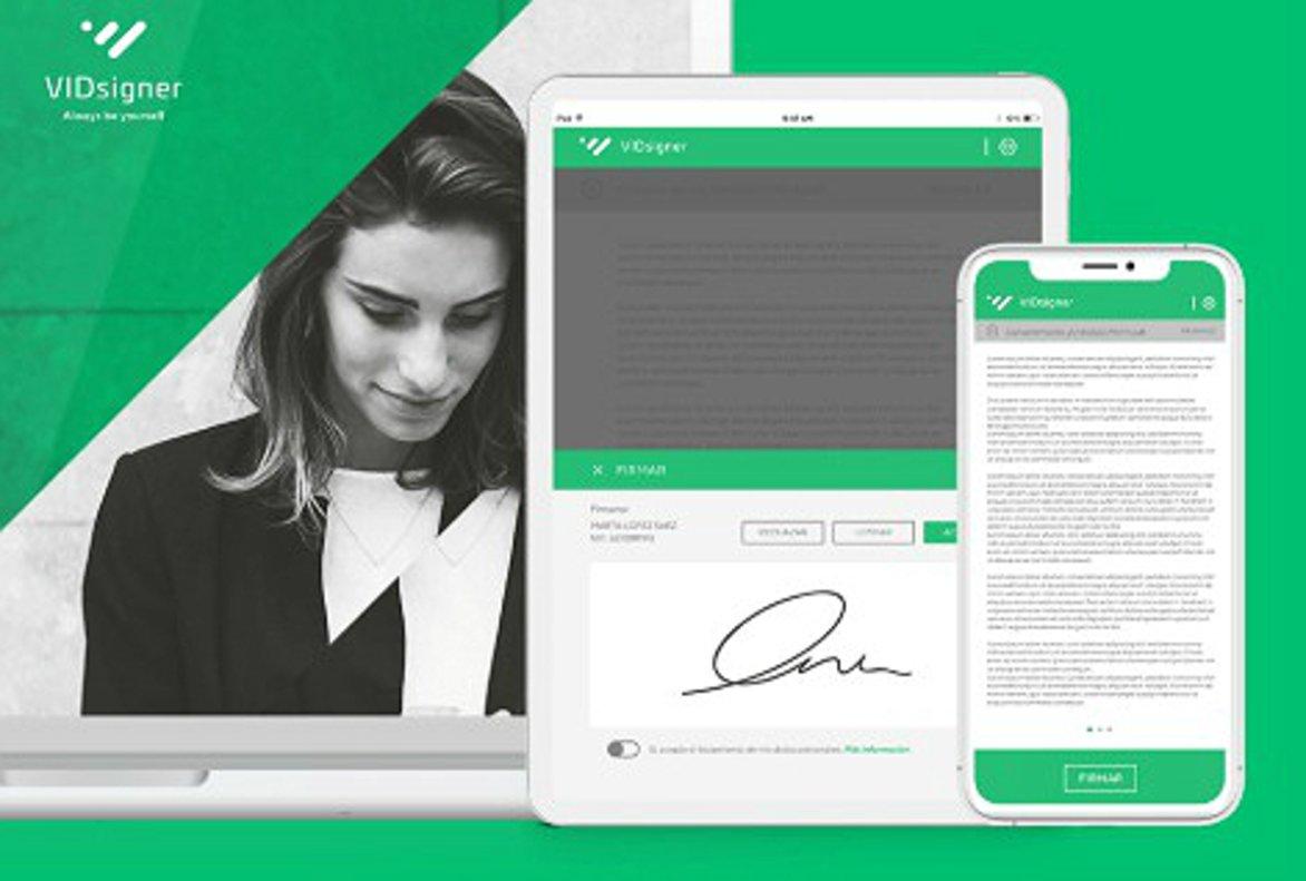 Ejemplo de aplicación diseñada para la gestión de la firma electrónica.