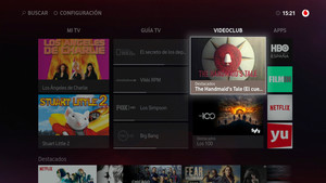 Videoclub de Vodafone One TV.