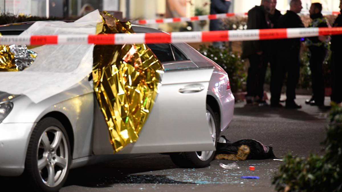 Imágenes de los tiroteos de Hanau (Alemania) obtenidas de redes sociales.