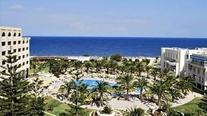 Vista del hotel Imperial Marhaba de la cadenaRiu en Susa, Túnez.