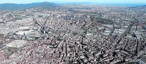 Vista añerea de parte del área metropolitana.