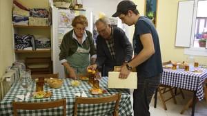 Voluntarios en un comedor social.