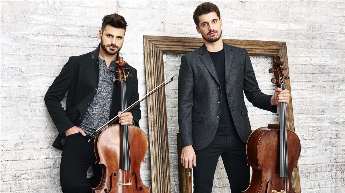 2Cellos son ellos,Stjepan Hauser (izquierda) yLuka Sulic.