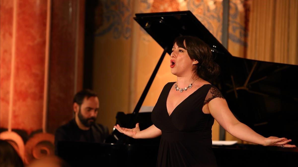 Ruth Iniesta y Rubén Fernández Aguirre en recital del Festival Life Victoria celebrado en el recinto modernista de Sant Pau.
